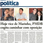 Hoje vice de Marinho, PMDB cogita caminhar com oposição